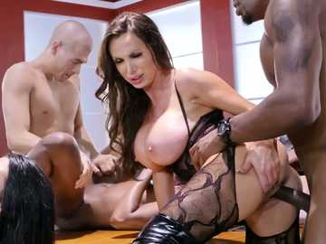 Lots of girls including Ana Foxxx, Monique Alexander and Nikki Benz get involved in groups sex